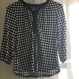 Long sleeve, polka dot blouse